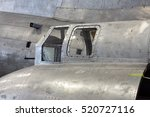 Small photo of DAYTON, OHIO, USA - NOVEMBER 18, 2016: National Museum USAF is restoring the famous original WWII Memphis Belle B-17F Flying Fortress bomber, shown here with restored window of tail gunner assemblage.
