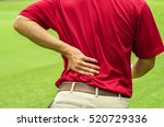 golfer back pain  muscle injury ... | Shutterstock . vector #520729336