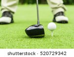 golfer preparation tee off golf ... | Shutterstock . vector #520729342