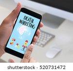 digital marketing  new startup... | Shutterstock . vector #520731472