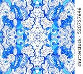 tracery seamless calming... | Shutterstock . vector #520737646