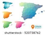 Set Of Vector Polygonal Spain...