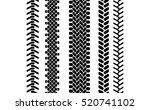 black and white tire tread... | Shutterstock .eps vector #520741102
