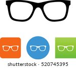 eyeglasses icon | Shutterstock .eps vector #520745395