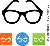 eyeglasses icon. | Shutterstock .eps vector #520745422