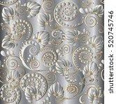 elegant paisleys seamless...   Shutterstock .eps vector #520745746