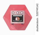 kitchenware oven flat  icon... | Shutterstock .eps vector #520749142