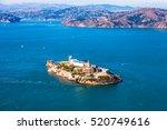 Aerial View Of Alcatraz Island...