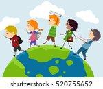 stickman illustration of a... | Shutterstock .eps vector #520755652