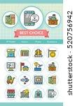 icon set airport vector | Shutterstock .eps vector #520756942