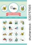 icon set party vector | Shutterstock .eps vector #520757005