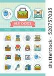 icon set office vector | Shutterstock .eps vector #520757035