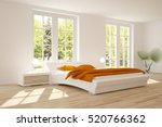 white bedroom with green... | Shutterstock . vector #520766362