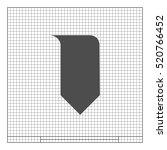 bookmark icon stock vector... | Shutterstock .eps vector #520766452
