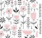 seamless vrctor floral pattern... | Shutterstock .eps vector #520767802