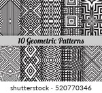 set of 10 geometric patterns.... | Shutterstock .eps vector #520770346