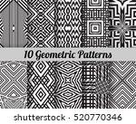 set of 10 geometric patterns.... | Shutterstock .eps vector #520770346