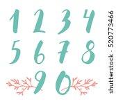 doodle hand drawn numbers set... | Shutterstock .eps vector #520773466