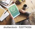the cloud storage data concept | Shutterstock . vector #520774336