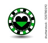 chips for poker green a suit... | Shutterstock .eps vector #520780192