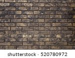 old worn  finishing brick wall... | Shutterstock . vector #520780972