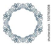 round frame  circular ornament... | Shutterstock .eps vector #520781008
