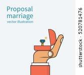 proposal marriage  vector... | Shutterstock .eps vector #520781476