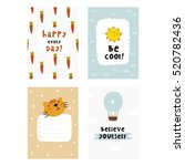 cute planner  cards and... | Shutterstock .eps vector #520782436
