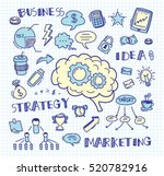 hand drawn business doodle... | Shutterstock .eps vector #520782916
