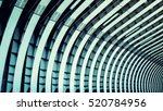 train tunnel. symmetric steel... | Shutterstock . vector #520784956