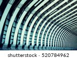 train tunnel. symmetric steel... | Shutterstock . vector #520784962