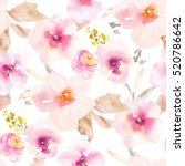 Stock photo this modern pink and purple floral pattern features a repeating flower background design with 520786642