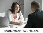 young boss businesswoman...   Shutterstock . vector #520788526