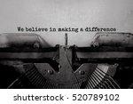 we believe in making a... | Shutterstock . vector #520789102