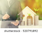 businessman using digital... | Shutterstock . vector #520791892