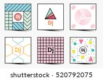 set of backgrounds with modern... | Shutterstock . vector #520792075