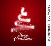 glowing christmas tree. vector... | Shutterstock .eps vector #520793962
