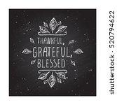 handdrawn thanksgiving label... | Shutterstock .eps vector #520794622