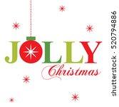 jolly christmas  | Shutterstock .eps vector #520794886