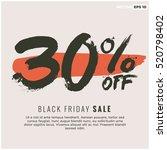30  off black friday sale ...   Shutterstock .eps vector #520798402