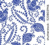 seamless pattern with fantasy... | Shutterstock .eps vector #520803946