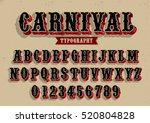 Vector Of Vintage Carnival Fon...