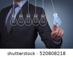 innovation concepts on touch... | Shutterstock . vector #520808218