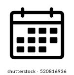 calendar or appointment... | Shutterstock .eps vector #520816936