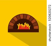 Brick Pizza Oven With Fire Ico...