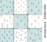 scandinavian pattern with fir... | Shutterstock .eps vector #520821082