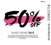 Stock vector  off black friday sale promotional poster design vector illustration with text box template 520821718