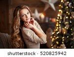 close up portrait of a... | Shutterstock . vector #520825942