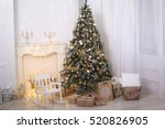 christmas tree  gifts | Shutterstock . vector #520826905