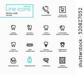 dental care   single line... | Shutterstock . vector #520827052